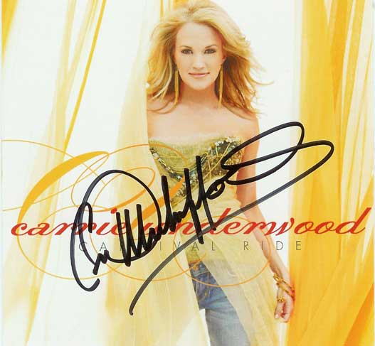 Carrie Underwood Carnival Ride Signed Autographed