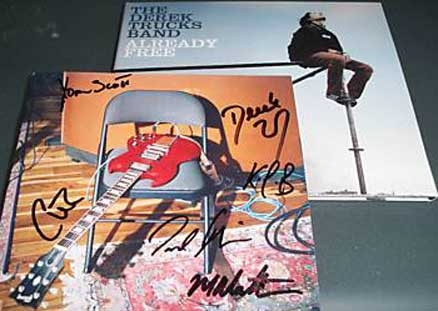 Derek Trucks Autographed CD Signed