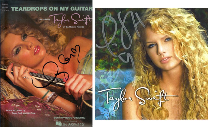 Taylor Swift Autographed CD and Songbook