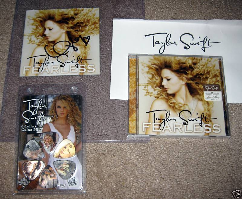 Taylor Swift Fearless Autographed CD
