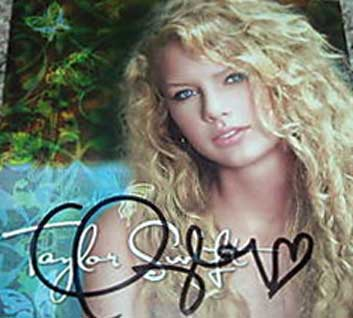 Taylor Swift Autographed CD Signed